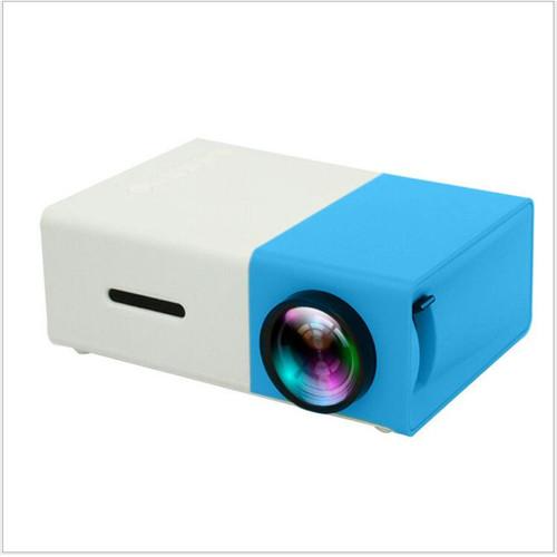 Foto Produk Mini Projector LED atau proyektor YG300 Mini theater kuning bergaransi - Biru dari BintangRayaCom