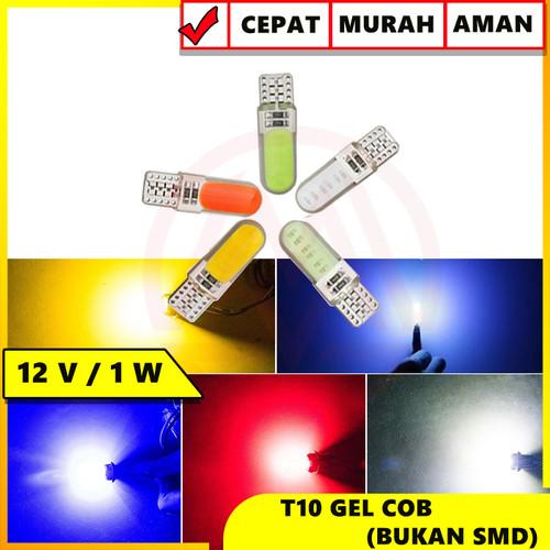 Foto Produk LAMPU LED T10 GEL SILICA 10 TITIK DEPAN BELAKANG UNIVERSAL - Putih dari Modifikasi Market