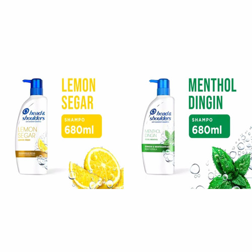 Foto Produk Head & Shoulders Lemon Fresh Anti Ketombe / Cool Mentol Shampo 680 ml - Lemon 680ml dari Ultramart88