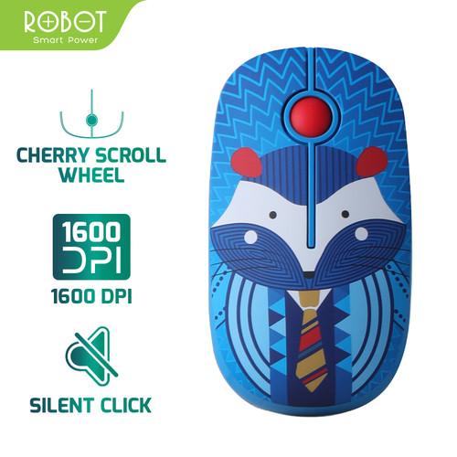 Foto Produk Mouse Wireless ROBOT M330 Stylish 2.4GHz Silent Optical 1600DPI - Hedgehog dari Robot PC Official Store