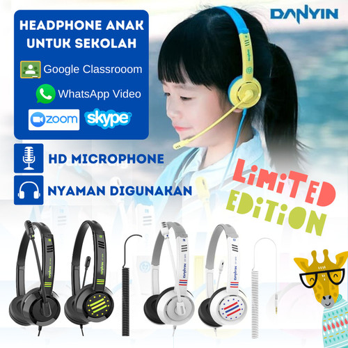 Foto Produk Headset Earphone Headphone Anak Bando Danyin DT-326 Special Edition - Hitam dari TokoUsbcom