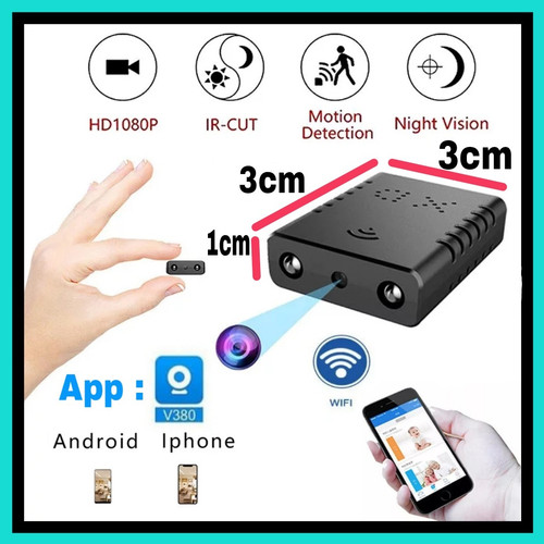 Foto Produk Camera Super Mini Wifi HD Spy Camera - Micro Camera XD - Tanpa Memory dari Navy Acc