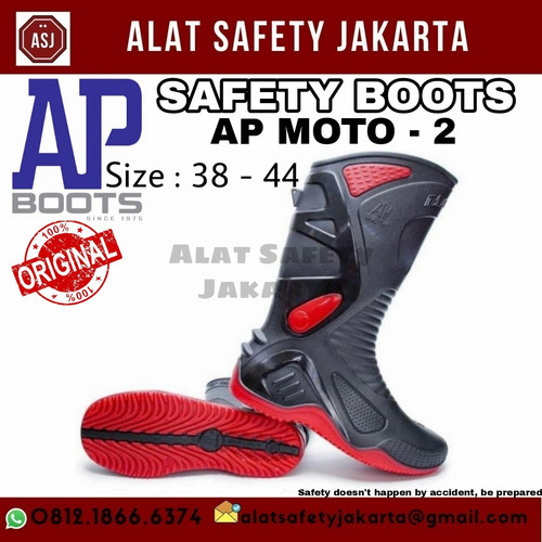 Foto Produk Sepatu Boot Karet AP Moto 2 Ori Murah dari Alat Safety Jakarta