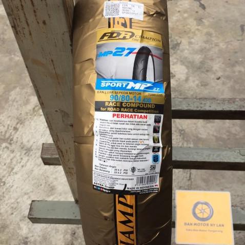Foto Produk Ban Motor FDR Sport MP27 90/80 Ring 14 Soft Compound dari BAN MOTOR NY LAN