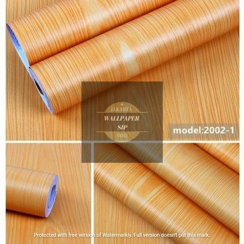 Foto Produk Wallpaper stiker dinding motif serat kayu natural kuning dari wallpaper_sip