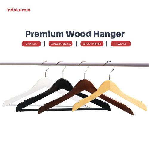 Foto Produk Premium Wood Hanger Gantungan Hanger Kayu - Polos Anak, Natural dari Indokurnia