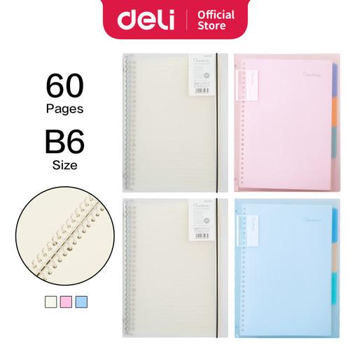 Foto Produk Deli Loose-Leaf Buku Notebook B5 60lembar HB560 - tint dari Deli Stationery