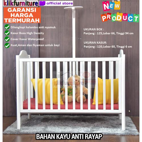 Foto Produk Baby Box / Box Bayi / Ranjang Bayi GILLIAN dengan Kelambu dari klikfurniture