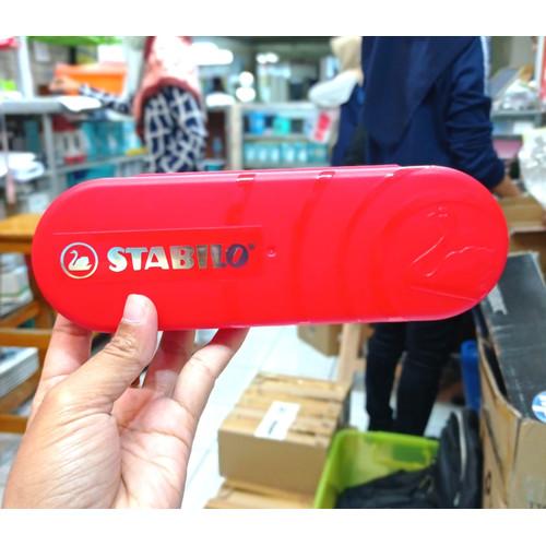 Foto Produk Stabilo Tempat Pensil / Stabilo Pensil Case - Merah dari Aquarius Official