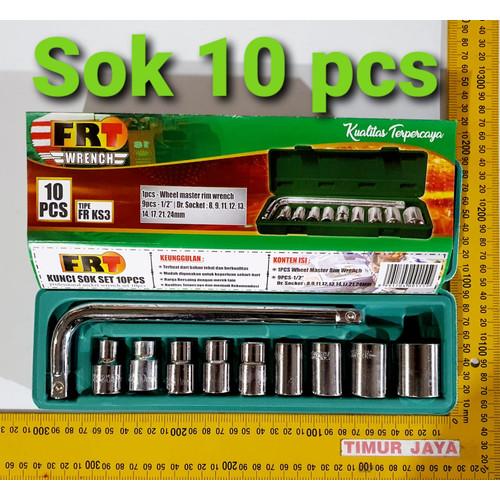 Foto Produk KAIR Tool Kit 10 In 1 Set Kunci Sock Pas SHOCK Sok kenmaster tekiro dari TOKO BESI TIMUR JAYA