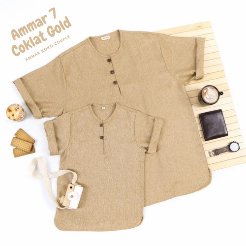 Foto Produk Baju Koko couple ayah anak Ammar - Coklat Gold dari LakuKareh