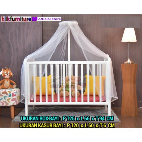 Foto Produk Baby Box Tempat Tidur Bayi + Kelambu GILLIAN dari klikfurniture