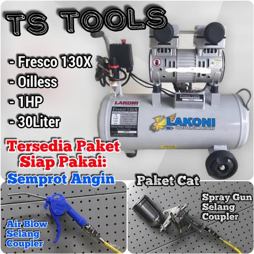 Foto Produk Kompressor Lakoni Fresco 130 / Kompressor oiless / Kompressor silent dari TS Tools