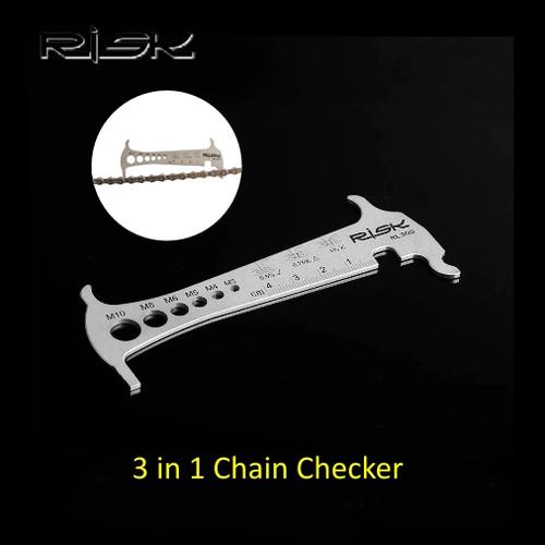 Foto Produk RISK RL305 Bike 3 in 1 Chain Checker Tool - Alat Ukur Rantai Sepeda dari PACE AND RACE