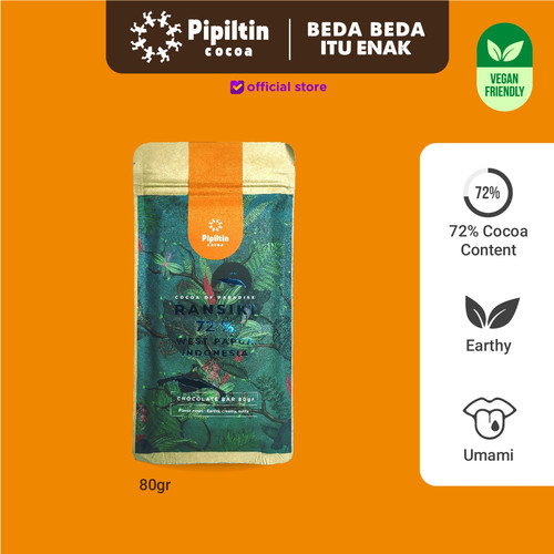 Foto Produk Pipiltin Cocoa Dark Chocolate - Chocolate Bar Ransiki 72% dari Pipiltin Cocoa