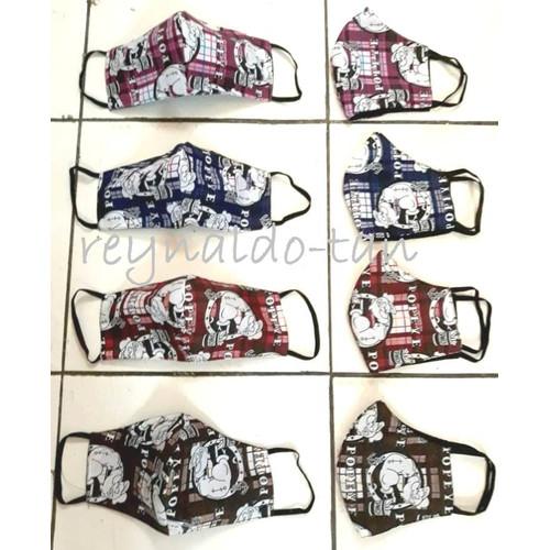 Foto Produk 12 Pcs Masker Kain Monyong Motif Popeye 2 ply Lucu Earloop dari reynaldo-tan
