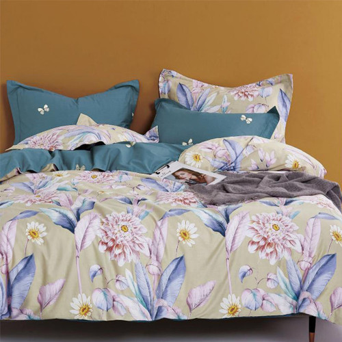 Foto Produk Sleep Buddy Set Sprei Dream Garden Cotton Sateen Queen Size dari Sleep Buddy Bedding