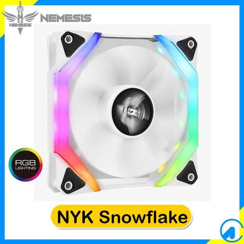 Foto Produk NYK Snowflake RGB LED Case Fan Casing 12cm dari Artica Computer