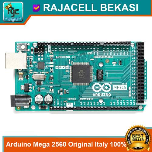 Foto Produk Original Italy Mega 2560 R3 100% ORI Arduino Mega2560 Developmen Board dari RAJACELL BEKASI