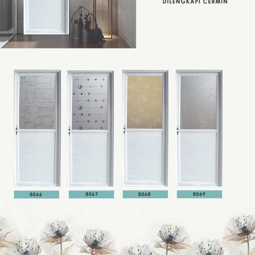 Foto Produk Pintu Alumunium / Aluminium Jayco Kaca Cermin Putih + Gagang + Kusen dari serisaito
