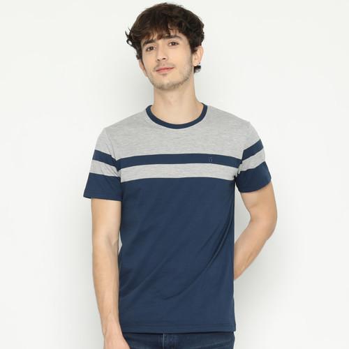 Foto Produk MATSUDA T Shirt Pria Kaos Stripe Ayabe - XXL, NAVY dari Matsuda Apparel