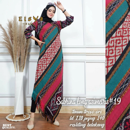 Foto Produk tunik long sabrina 19 ori tenun dari Jivan Batik