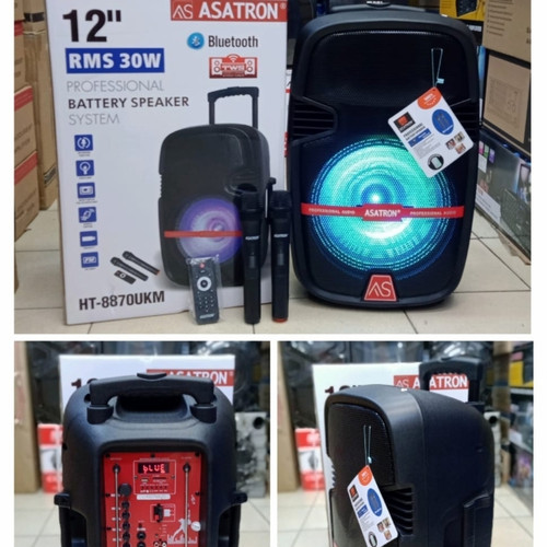 Foto Produk Speaker Portable Asatron HT 8870 UKM/2 mic wireless dari Dede EC