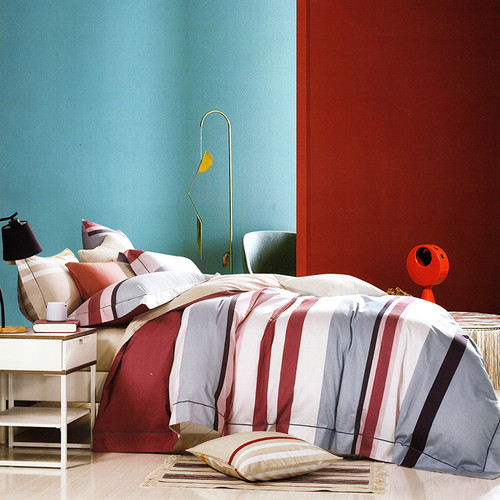 Foto Produk Sleep Buddy Set Sprei Line Teenage Cotton Sateen King Size dari Sleep Buddy Bedding