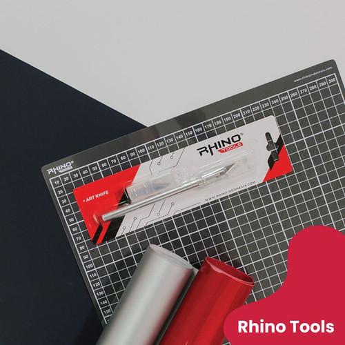 Foto Produk (BISA COD) Alat Bantu Potong Polyflex Kertas (Art Knife Rhino) dari Sablon Digital Indonesia