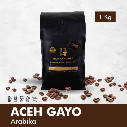 Foto Produk Kopi Arabika Aceh Gayo 1 KG - Commercial Grade - WHOLE BEAN dari Hatana Coffee
