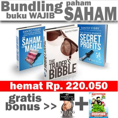 Foto Produk Bundling Trading 3 Buku Saham Terbaik + Gratis bonus 2 buku Financial dari Ilmu Kepala