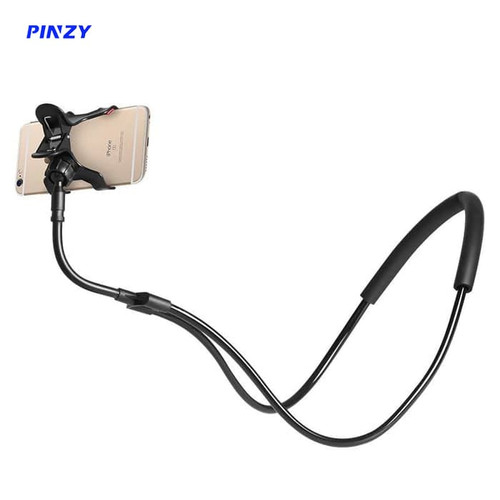 Foto Produk Lazy neck lazyneck cell phone stand mount necklace / Lazypod leher - Warna Cowok dari PINZY Official Store