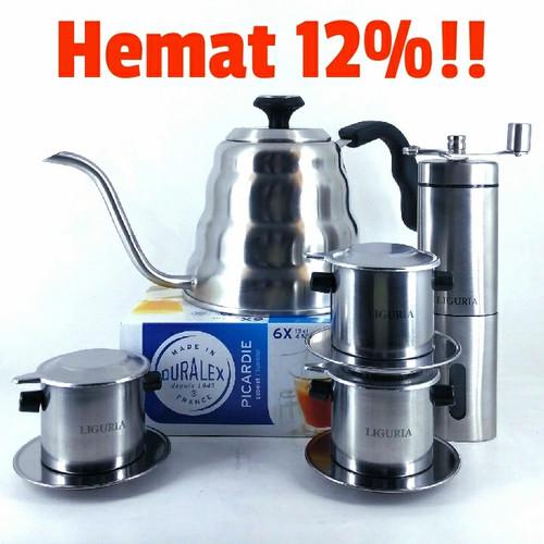 Foto Produk Paket Buka Warung Kopi Vietnam Drip + Duralex + Coffee Grinder + Teko dari Kopi Jayakarta