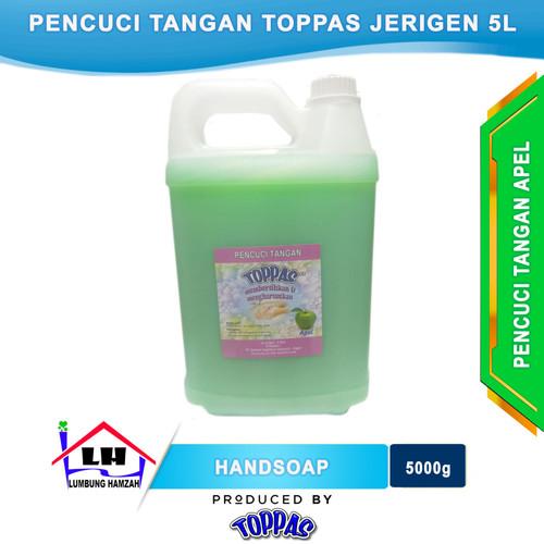 Foto Produk Hand Soap Apel 5 L TOPPAS Mutu TOP Harga PAS Instant/Sameday dari Toko Sabun Hamzah