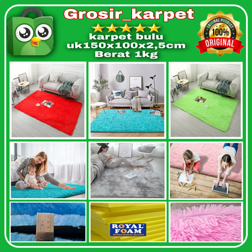 Foto Produk karpet/matras bulu uk 150x100x2cm - Putih dari grosir_karpet