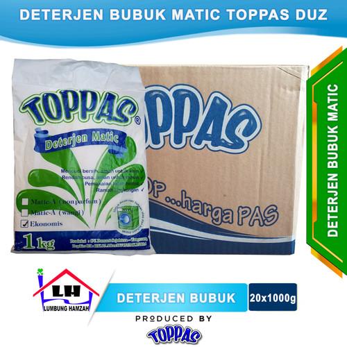 Foto Produk Deterjen Bubuk Matic 1 Duz TOPPAS Mutu TOP Harga PAS Instant/Sameday dari Toko Sabun Hamzah
