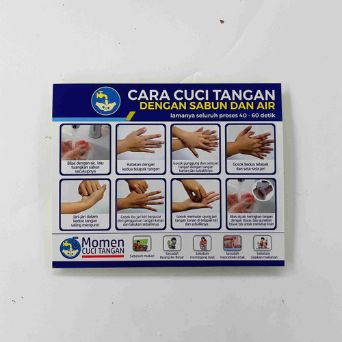 Foto Produk Stiker Cara Cuci Tangan dari Syafana