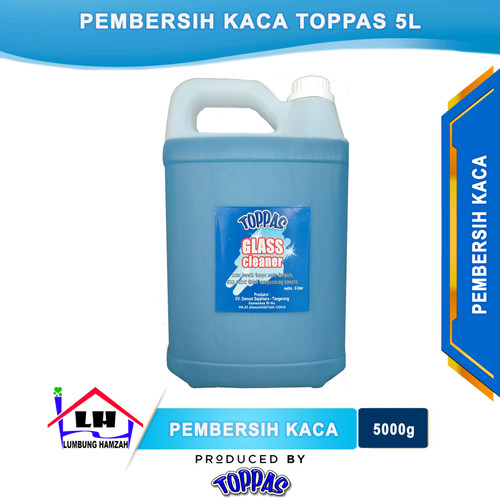 Foto Produk Pembersih Kaca 5 L TOPPAS Mutu Top Harga Pas Instant/Sameday dari Toko Sabun Hamzah