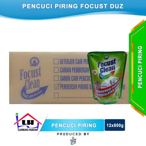 Foto Produk Pencuci Piring FOCUST Duz Isi 12x800 ml Instant/Sameday dari Toko Sabun Hamzah