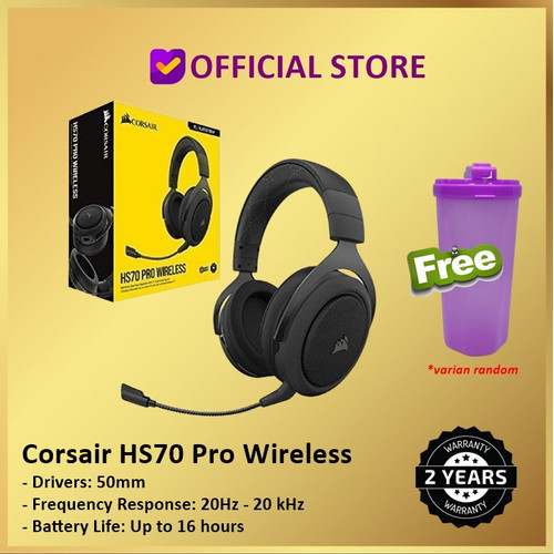 Foto Produk Corsair HS70 Pro Wireless 7.1 Surround Sound Gaming Headset HS 70 - CA-9011211-AP dari DUNIA COMPUTER & SERVICE