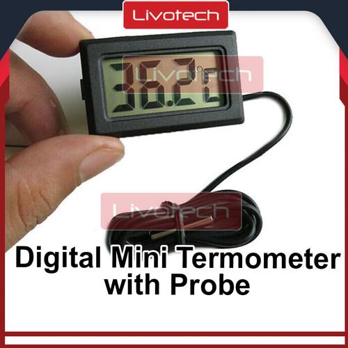 Foto Produk Digital Thermometer dengan Probe 1 meter (termometer mini) dari LIVOTECH