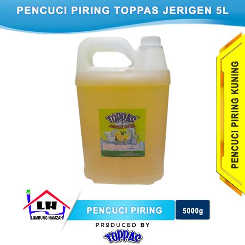 Foto Produk Pencuci Piring Lemon 5 L TOPPAS Mutu TOP Harga PAS Instant/Sameday dari Toko Sabun Hamzah