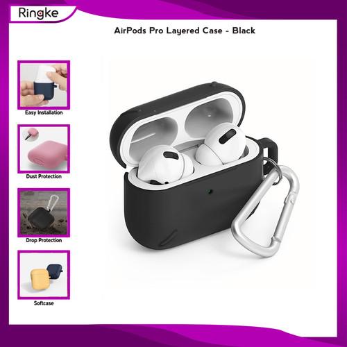 Foto Produk Ringke Airpods Pro Layered Case Anti Banting Crack Hardcase - Black dari Gear4