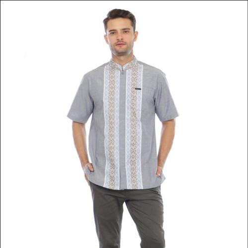 Foto Produk Baju Koko Rebertus Pria Lengan Pendek Farraz - Abu-abu, S dari Rebertus