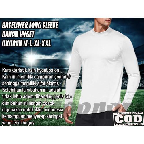 Foto Produk PROMO SALE !!! Baju Kaos Manset Olahraga Pria Lengan Panjang - Putih, M dari Nr29_store
