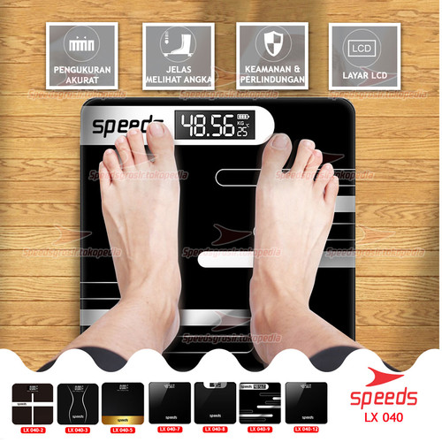 Foto Produk Timbangan Badan Digital 30x30cm 180kg scale kaca Berat Mini Max 040-7 - Hitam -3 dari Speeds Official Store