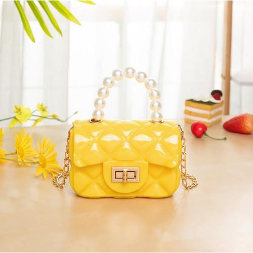 Foto Produk Semua Gratis - Tas Selempang Mini / Tas Handbag / Jelly Bag Mutiara - Kuning, Small dari Semua Gratis