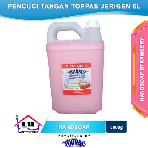 Foto Produk Hand Soap Strawbery 5 L TOPPAS Mutu TOP Harga PAS Instant/Sameday dari Toko Sabun Hamzah