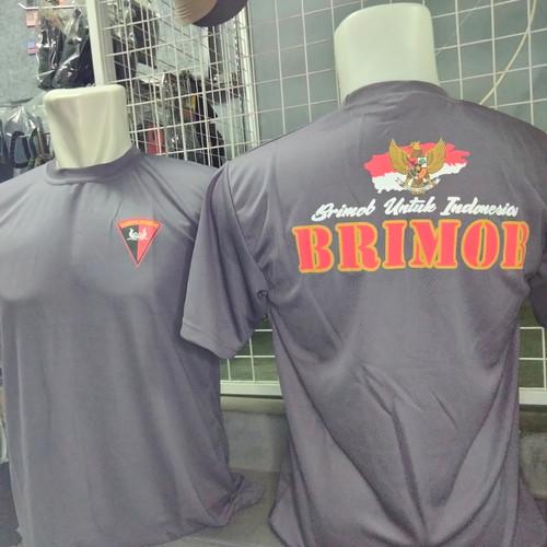Foto Produk kaos brimob coklat dryfit/kaos dalaman brimob coklat/baju dalam brimob - M dari Pane Tactical Gear
