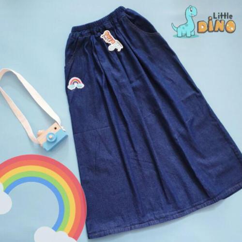 Foto Produk Rok Jeans Panjang Anak Perempuan 6-10th - Biru Tua (M) dari Toko DinanHillan